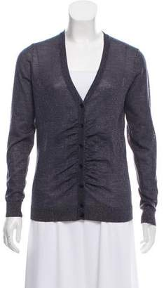 Thomas Pink Wool-Blend Long Sleeve Cardigan
