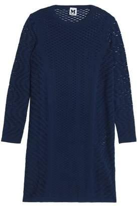 M Missoni Laser-Cut Stretch-Knit Mini Dress