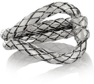 Bottega Veneta - Oxidized Sterling Silver Ring $350 thestylecure.com