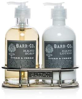 Barr-Co. Sugar & Cream Hand and Body Caddy Set