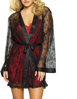 Jezebel Tama Long Sleeve Lace Kimono Robes