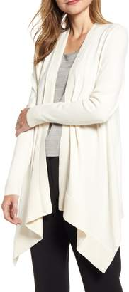 Anne Klein Pointelle Trim Waterfall Cardigan