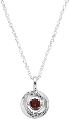 Brilliance+ Brilliance In Motion Brilliance in Motion Garnet & Diamond Accent Knot Pendant