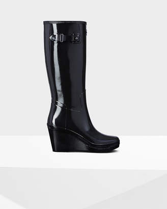 Hunter Women's Original Wedge Refined Gloss Tall Rain Boots