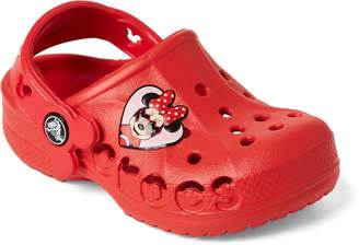 Crocs Toddler/Kids Girls) Flame Red Baya Minnie Clogs