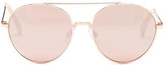 Betsey Johnson Women&s Round Aviator Sunglasses $38 thestylecure.com