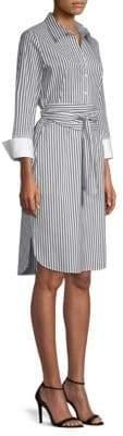 Lafayette 148 New York Fabiola Pinstripe Shirt Dress