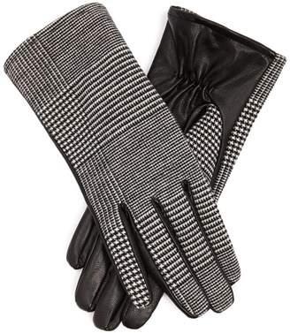 Forever 21 Glen Plaid Faux Leather Gloves