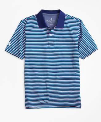 Brooks Brothers Boys Performance Feeder Stripe Polo Shirt
