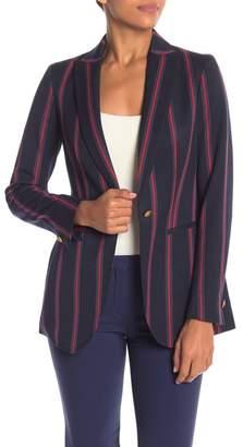 Anne Klein Bold Stripe Long Sleeve Blazer Jacket