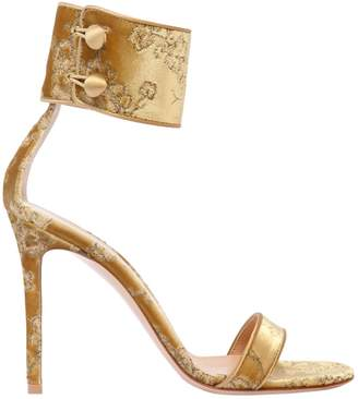 Gianvito Rossi 105mm Shanghai Embroidery Velvet Sandals