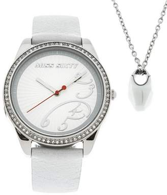 Miss Sixty Set Pendant Necklace and Watch Air Silver