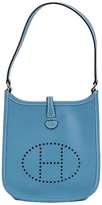 One Kings Lane Vintage HermAs Mini Blue Jean Evelyne Bag - Vintage Lux