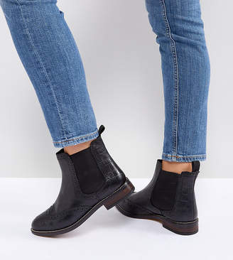 Dune London Dune Wide Fit Wide Fit Quentons Leather Flat Ankle Chelsea Boots