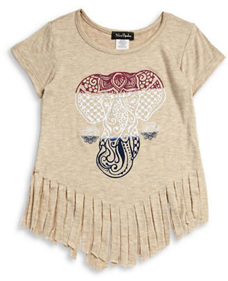 Miss Popular Girls 2-6x Elephant Fringed Top $18 thestylecure.com