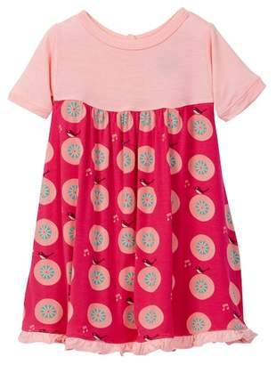 Kickee Pants Print Short Sleeve Swing Dress in Calypso Record Birds (Baby Girls)