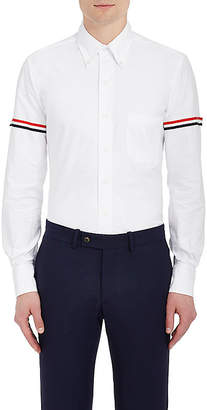 Thom Browne Men's Appliquéd Cotton Button-Down Shirt $450 thestylecure.com