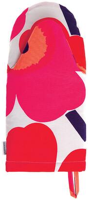 Marimekko Unikko Oven Glove - White/Fuchsia/Red