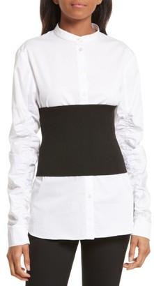 Women's Tibi Rib Knit Tube Corset $195 thestylecure.com