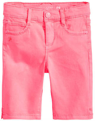 Celebrity Pink Twill Bermuda Shorts, Little Girls