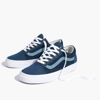 Madewell x Vans Unisex Old Skool Sneakers in Denim