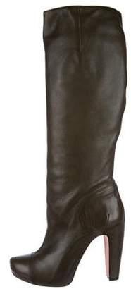 Roland Mouret Leather Cap-Toe Boots