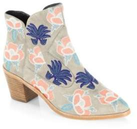 Rebecca Minkoff Lulu Too Embroidered Leather Ankle Boots