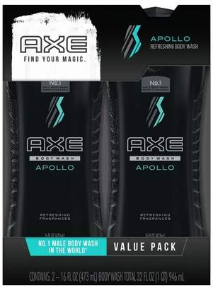 Axe Apollo Shower Gel Twin Pack - 16 fl oz