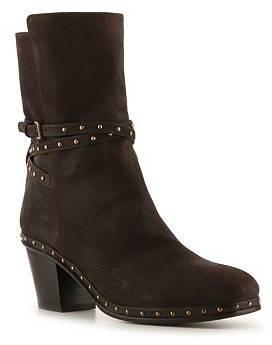Miu Miu Nubuck Leather Studded Boot