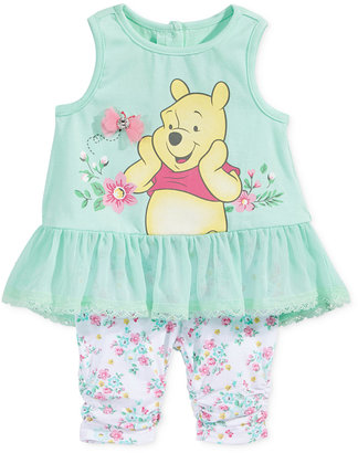 Nannette 2-Pc. Winnie The Pooh Peplum Tunic & Capri Leggings Set, Baby Girls (0-24 months) $34 thestylecure.com
