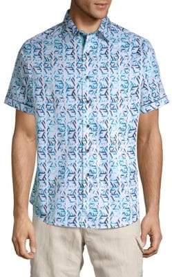 Robert Graham Keller Hill Printed Cotton Button-Down Shirt