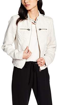 Vero Moda Women's Vmhouston Short Fake Suede WP3 Jacket, -Grau (Moonbeam)