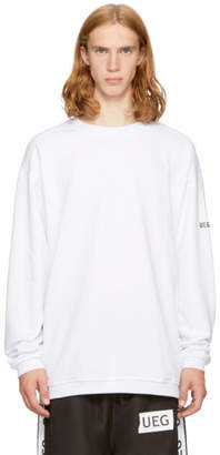 Ueg White Eagle Crew Sweatshirt