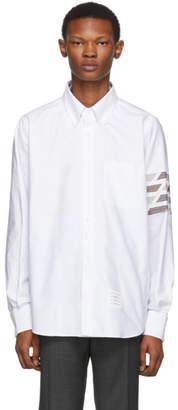 Thom Browne White Oxford 4 Bar Straight Fit Shirt