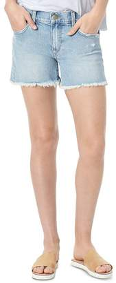 Joe's Jeans The Ozzie 4 Short Fray Hem Denim Cutoffs in Jade