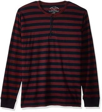 Lucky Brand Men's Casual Long Sleeve Stripe Henley Shirt