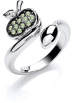 Rubie's Costume Co Jewellery Ruthenium Plated Green Temptation Ring - X-Large