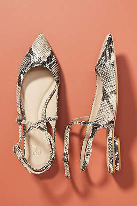 Guilhermina Snake Pointed-Toe Flats