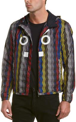 Fendi Leather-Trim Rain Jacket