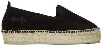 Manebi Black Hamptons Double Sole Espadrilles