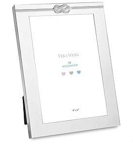 "Wedgwood Vera Wang Infinity Silver Baby Frame 4""X6"""