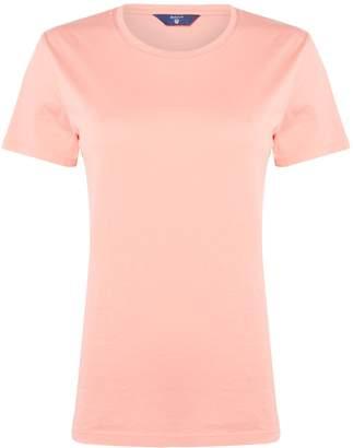 Gant Pima Crew Neck Short Sleeve T-Shirt