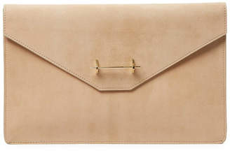 M2Malletier Suede Envelope Clutch