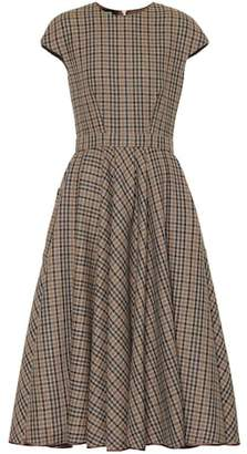 Rochas Checked wool-blend dress