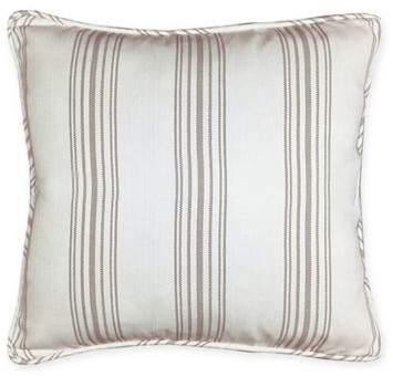 HiEnd Accents Gramercy Striped European Pillow Sham in Cream