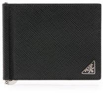 Prada Saffiano Leather Money-Clip Wallet $400 thestylecure.com
