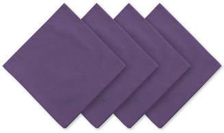 Elrene Stone Washed Purple Cotton Napkins, Set of 24
