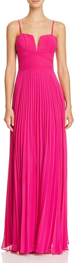 Pleated Chiffon Gown - 100% Exclusive