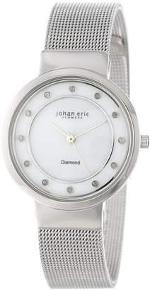 Johan Eric Women's JE6100-04-009 Arhus Diamond Round Stainless Steel Dial Watch