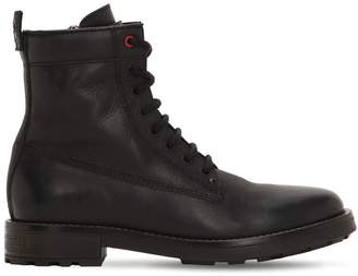 Diesel LACE-UP LEATHER BOOTS